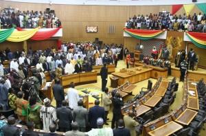 Les parlementaires ghanéens en session