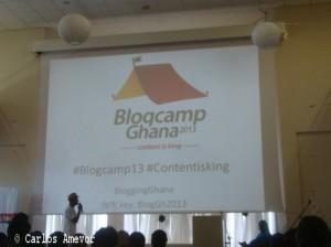 Cérémonie d'ouverture du Blogcamp 2013 au centre ICT Kofi Annan à Accra