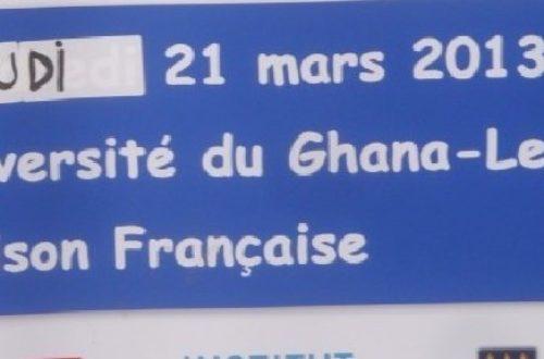 Article : Ghana : des étudiants ghanéens fêtent la francophonie à l'Université de Legon