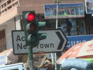 Feux tricolores à  Accra