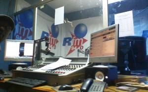 Studio de la Radio Rfm à Dakar