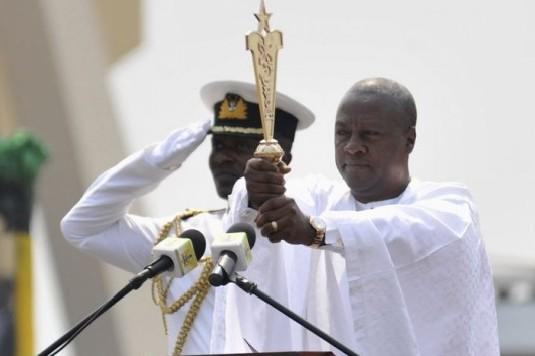 John Mahama, lors de sa prestation de serment en janvier 2013 (ph crédit Présidence ghanéenne)