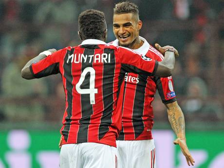 Sulley Muntari et Kevin Price-Boateng (ph)
