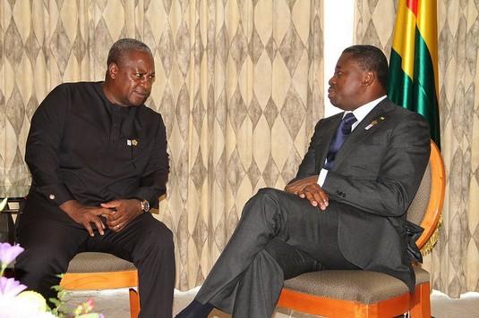 Les Présidents Mahama et Faure (ph présidence ghanéenne )