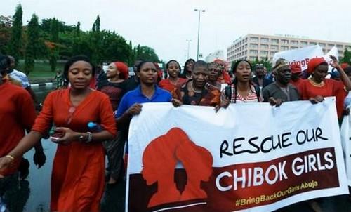 Marche des fememes à Abuja