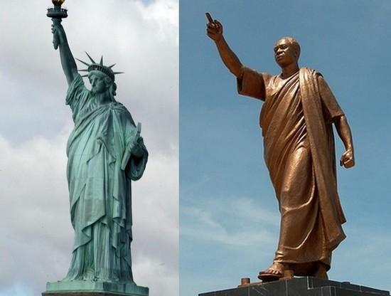 Composition (ph Happy) statue Liberté et Mausolée Kwame Nkrumah