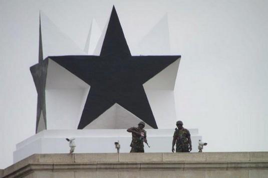 Vue partielle de l'Etoile noire (ph) à la place de l'indépendance à Accra