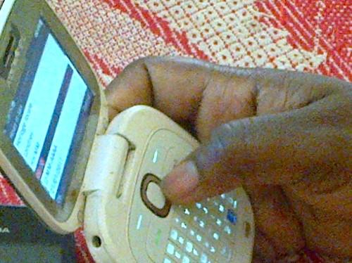 Le téléphone d'un abonné Airtel (ph Happy)